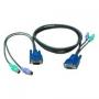 Кабель REXTRON для KVM переключателей 2-на-2, USB A-B, DVI (M-M), для DAAG14, DAKG14, 3м