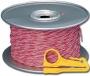 Кроссировочный кабель категории 5е, однопарный (красный/белый) Siemon