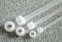 Стяжка нейлоновая неразмыкаемая под винт, белая 200*4,8mm (100шт) Rexant