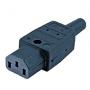 Разъем IEC 60320 C13 220В 10A на кабель (плоские контакты внутри разъема), прямой Hyperline