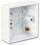 Коробка для настенного монтажа для одинарных лицевых панелей MAX или CT, британский стандарт, белая Siemon
