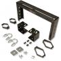 Держатель кабельного лотка на крышу шкафа, 2U, черный (включает аксессуары для монтажа, 2 штуки 1/4 поворотные кабельные органайзеров, клемму заземления) Siemon