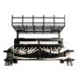 Держатель кабельного лотка на крышу шкафа, 4U, черный (включает аксессуары для монтажа, 4 штуки 1/4 поворотных кабельных органайзеров, клемму заземления, 4 гайки M6) Siemon