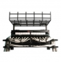 Держатель кабельного лотка на крышу шкафа, 4U, черный (включает аксессуары для монтажа, 4 штуки 1/4 поворотных кабельных органайзеров, клемму заземления) Siemon