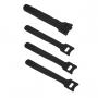 Хомут для кабеля, липучка с мягкой застежкой, 125x14 мм, черный (10 шт.)