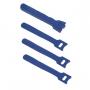 Хомут для кабеля, липучка с мягкой застежкой, 125x14 мм, синий (10 шт.)