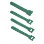 Хомут для кабеля, липучка с мягкой застежкой, 125x14 мм, зеленый (10 шт.)