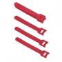 Хомут для кабеля, липучка с мягкой застежкой, 125x14 мм, красный (10 шт.)
