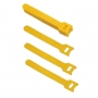 Хомут для кабеля, липучка с мягкой застежкой, 125x14 мм, желтый (10 шт.)