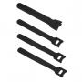 Хомут для кабеля, липучка с мягкой застежкой, 135x14 мм, черный (10 шт.)
