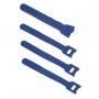 Хомут для кабеля, липучка с мягкой застежкой, 135x14 мм, синий (10 шт.)