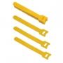 Хомут для кабеля, липучка с мягкой застежкой, 135x14 мм, желтый (10 шт.)