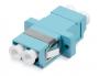 Проходной соединитель LC-LC duplex, MM-OM3(для многомодового кабеля), корпус пластмассовый (SC Adapter Simplex dimension)