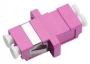 Проходной соединитель LC-LC duplex, MM-OM4(для многомод. каб.), корпус пласт. (SC Adapter Simplex dimension)