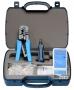 Набор инструментов (инструмент обжимной для RJ-45, RJ-12, инструмент для заделки витой пары 110 типа, обрезка, зачистка, тестер)