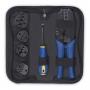 Набор инструментов ( инструмент обжимной для кабельных наконечников, отвертка, сменныенасадки 5 шт.)