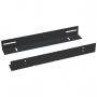 Направляющие в шкаф глубиной 600мм для установки серверного оборудования, пара, усиленные до 100кг, цвет черный (RAL 9004)