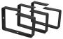 Кольцо организационное для укладки кабеля 90х65 мм, металлическое, цвет черный (RAL 9004)