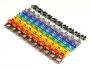 """Маркеры (клипсы) на кабель, защелкивающиеся D 6-7мм, """"0""""-""""9"""", 10 цветов (100 шт.)"""