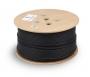 Кабель витая пара UTP (U/UTP), категория 6, 4 пары (23 AWG), одножильный, для внешней прокладки (+75 C - -40), LSZH-UV (305 м)