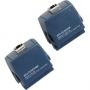 Набор адаптеров серии DTX для тестирования коммутационных кабелей Cat. 5e. Сертифицирует экранированные и неэкранированные коммутационные кабели категории 5e