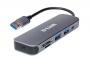 Концентратор с 2 портами USB 3.0, 1 портом USB Type-C, слотами для карт SD и microSD и разъемом USB 3.0
