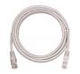 Коммутационный шнур NETLAN U/UTP 4 пары, Кат.5е (Класс D), 100МГц, 2хRJ45/8P8C, T568B, заливной, многожильный, BC (чистая медь), PVC нг(B), серый, 0,3м, уп-ка 10шт.