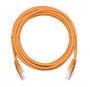 Коммутационный шнур NETLAN U/UTP 4 пары, Кат.5е (Класс D), 100МГц, 2хRJ45/8P8C, T568B, заливной, многожильный, BC (чистая медь), PVC нг(B), оранжевый, 1м, уп-ка 10шт.