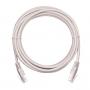 Коммутационный шнур NETLAN U/UTP 4 пары, Кат.5е (Класс D), 100МГц, 2хRJ45/8P8C, T568B, заливной, многожильный, BC (чистая медь), PVC нг(B), белый, 1м, уп-ка 10шт.