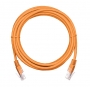 Коммутационный шнур NETLAN U/UTP 4 пары, Кат.5е (Класс D), 100МГц, 2хRJ45/8P8C, T568B, заливной, многожильный, BC (чистая медь), PVC нг(B), оранжевый, 1,5м, уп-ка 10шт.