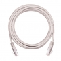 Коммутационный шнур NETLAN U/UTP 4 пары, Кат.5е (Класс D), 100МГц, 2хRJ45/8P8C, T568B, заливной, многожильный, BC (чистая медь), PVC нг(B), белый, 1,5м, уп-ка 10шт.
