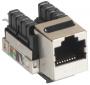 Модуль-вставка NETLAN типа Keystone, Кат.5e (Класс D), 100МГц, RJ45/8P8C, 110/KRONE, T568A/B, экранированный, металлик, уп-ка 10шт.