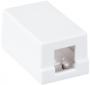 Корпус настенной розетки NETLAN, под 1 модуль-вставку типа Keystone, белый, уп-ка 10 шт.