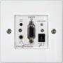 Удлинитель REXTRON VGA настенный CAT5/5e/6 UTP, до 165м, FullHD, WUXGA, Plug&play, EDID,Вход HDB15,Audio jack