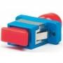 Оптический проходной адаптер FC-SC, SM/MM, simplex, корпус металл, красные колпачки Hyperline