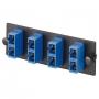 Панель OPTICOM для 3 SC дуплексных одномодовых оптических адаптеров с керамическими муфтами (синий) PANDUIT