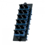 Панель OPTICOM для 6 SC дуплексных одномодовых оптических адаптеров с керамическими муфтами (синий) PANDUIT