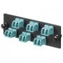 Панель OPTICOM для 8 LC 10GIG™ дуплексных многомодовых оптических адаптеров с муфтами из циркониевой керамики (морская волна) PANDUIT
