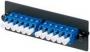 Панель OPTICOM для 8 LC дуплексных одномодовых оптических адаптеров с муфтами из циркониевой керамики (синий) PANDUIT