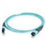 Патч-корд волоконно-оптический MTP (мама)-MTP (мама), полировка Premium Grade, 12 волокон, без петель, 50/125 (OM4), 10Gig, LSZH, 2 м Hyperline