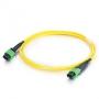 Патч-корд волоконно-оптический MTP (мама)-MTP (мама), 12 волокон, OS2, 10 Gig, LSZH, 2 м Hyperline