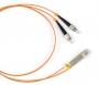 Патч-корд волоконно-оптический (шнур) MM 50/125, FC-LC, duplex, LSZH, 3 м Hyperline