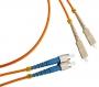 Патч-корд волоконно-оптический (шнур) MM 50/125, SC-FC, 2.0 мм, duplex, LSZH, 1 м Hyperline