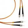 Патч-корд волоконно-оптический (шнур) MM 50/125, ST-ST, 2.0 мм, duplex, LSZH, 1 м Hyperline