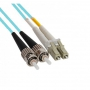 Патч-корд волоконно-оптический (шнур) MM 50/125(OM3), LC-ST, duplex, LSZH, 2 м Hyperline