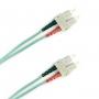 Патч-корд волоконно-оптический (шнур) MM 50/125(OM3), SC-SC, 2.0 мм, duplex, LSZH, 1 м Hyperline