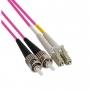 Патч-корд волоконно-оптический (шнур) MM 50/125(OM4), ST-LC, duplex, LSZH, 1 м Hyperline