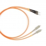 Патч-корд волоконно-оптический (шнур) MM 62.5/125, ST-SC, 2.0 мм, duplex, LSZH, 1 м Hyperline