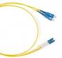 Патч-корд волоконно-оптический (шнур) SM 9/125 (OS2), LC/APC-SC/APC, duplex, LSZH, 1 м Hyperline