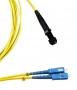 Одномодовый оптический патч-корд, SC/APC-MTRJ(папа), дуплексный, волокно 9/125, LSZH, 1 м Hyperline